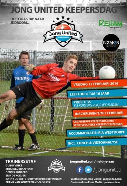 Jong United : Keepersdag